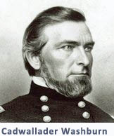 Cadwallader Washburn in civil war era military uniform, head and shoulders shot