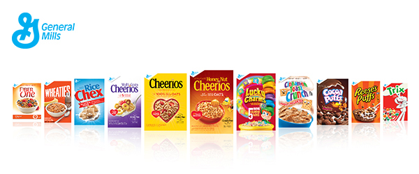 general mills cereal packages